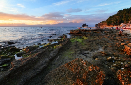 apo: Tropical island of Apo at sunset  Philippines