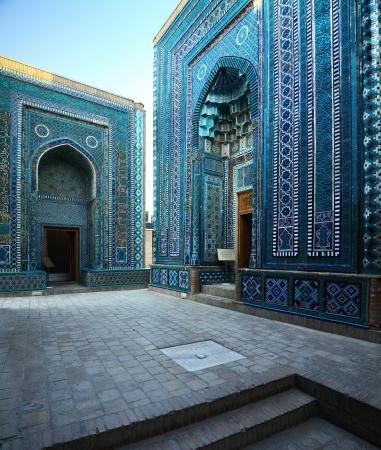 Oosterse complex van gebouwen van Shah i Zinda Samarkand, Oezbekistan