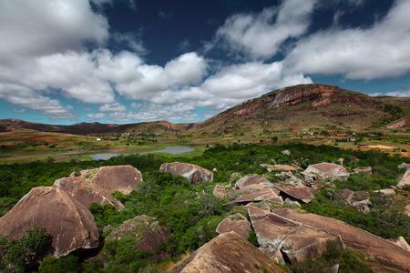 anja: Rocky land of Anja reserve. Madagascar