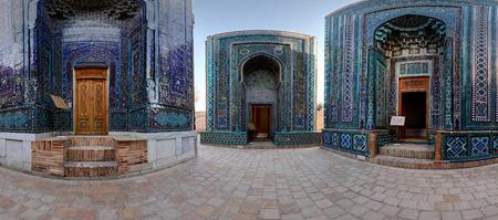 part of me: Parte de panorama esf�rico (proyecci�n equirectangular) del oriental complejo antiguo de Shah i Zinda. Samarcanda, Uzbekist�n
