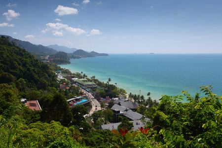 koh: Road along a costline. Koh Chang island, Thailand Stock Photo