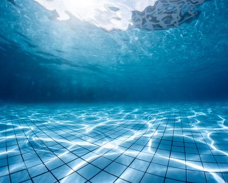 Underwater shot of the swimming pool Stock Photo