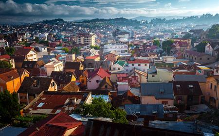 화창한 날에 안타나나리보의 도시. 마다가스카르