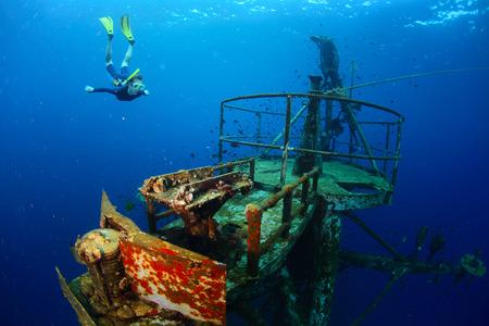 submerge: Wreck Stock Photo