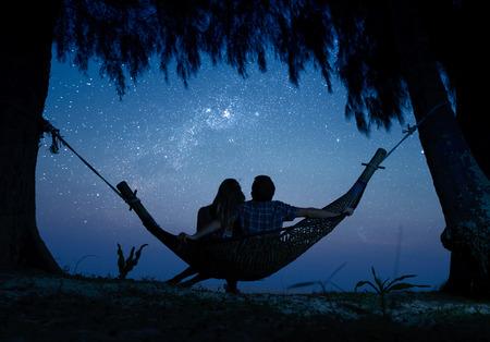 noche estrellada: Pareja
