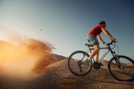 off road biking: Bicycle Stock Photo