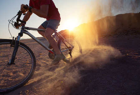 mountain bicycling: Bicycle Stock Photo