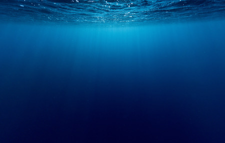 Underwater shot of sea surface with waves