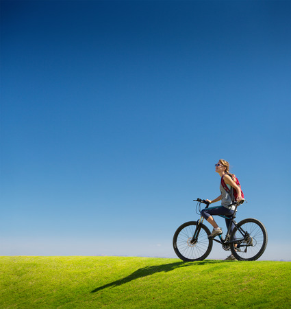sports activities: Bicycle Stock Photo