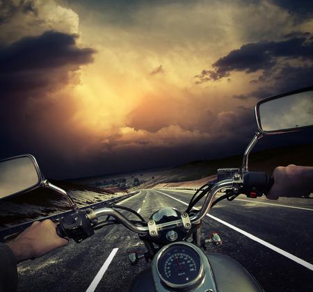 jinete: Motocicleta Foto de archivo