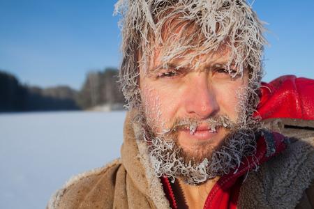 Frozen man Imagens