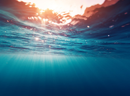 sea waves: Underwater view of the sea surface