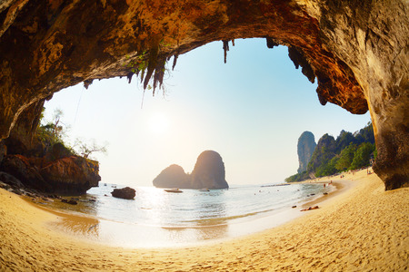 Tropical beach on the south of Thailand Stock Photo