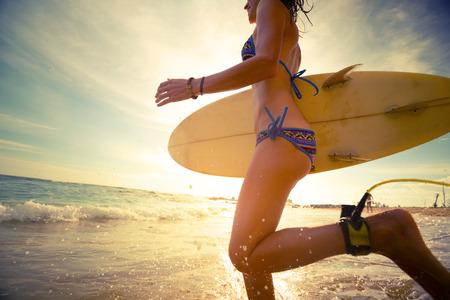 sri lanka: Surfer Stock Photo