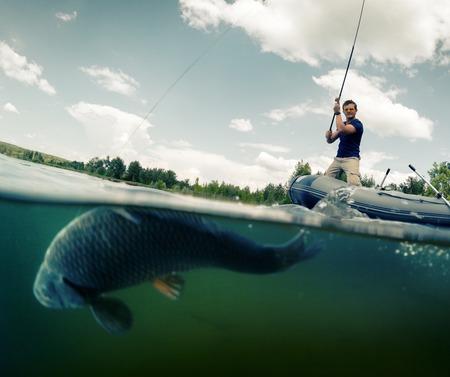 fish fishing: Fisherman