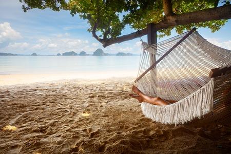 vacaciones en la playa: Hamaca