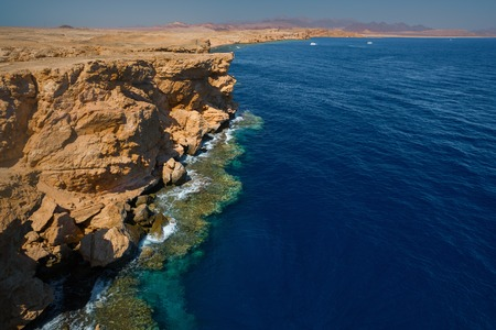ras: Red Sea coastline in the national park of Ras Muhammad, Egypt Stock Photo