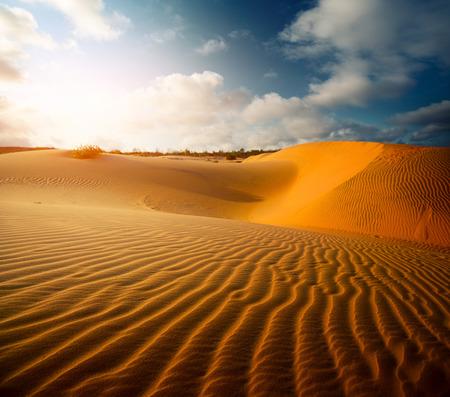 Red dunes near the town of Mui Ne, Vietnam Фото со стока