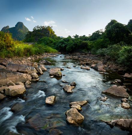 rocks water: River in the National Park of Phong Nha Ke Bang. Vietnam