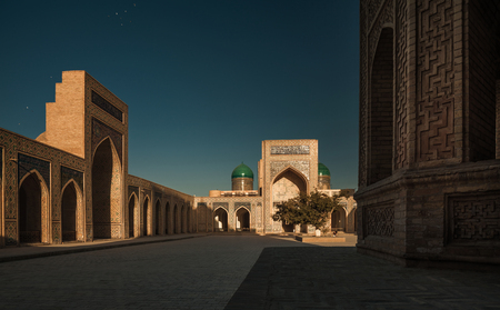 poi: Inside the complex of buildings of Poi Kalyan, Bukhara, Uzbekistan