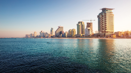 City of Tel Aviv at sunrise. Israel