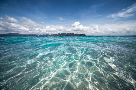 thailand beach: Tropical sea with clear water at sunny day Stock Photo