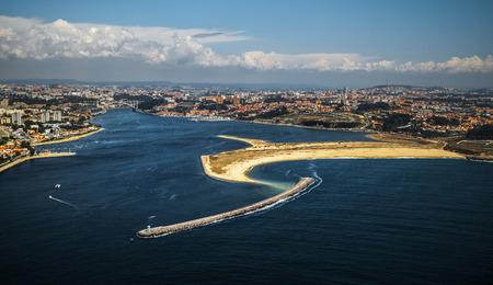 coastal: City of Porto aerial view, Portugal