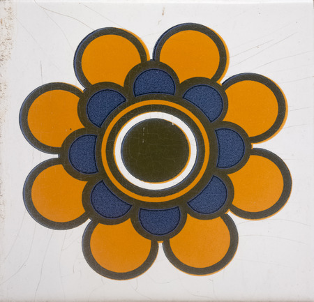 named: Portuguese tile named Azulejos Stock Photo