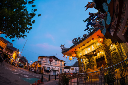 Street in the city of Penang, Malaysia Stock Photo