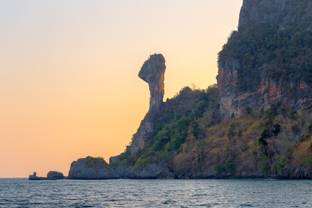 day trip: Island in the Andaman sea named Chicken. Famous day trip destination in Krabi province of Thailand Stock Photo