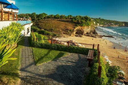 dreamland: Sandy coast of the beach of Dreamland. Bali, Indonesia.