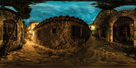 spanish village: Shot of the street in historical part of spanish village