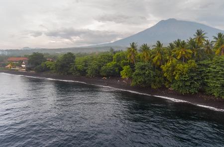 coastal: Volcano on the tropical island, Bali, Indonesia