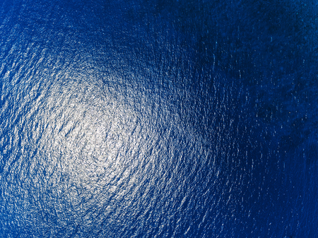 ocean background: Blue sea surface aerial view