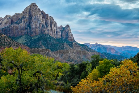 Zion National Park at sunset, USA