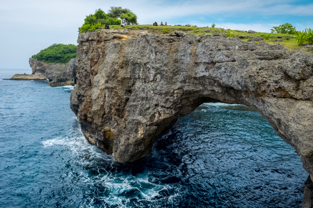 Landmark named Broken beach on the island of Nusa Penida, Bali, Indonesia