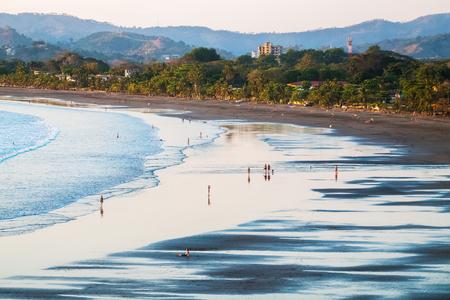 Tropical sandy beach in the town of Jaco, Costa Rica Archivio Fotografico
