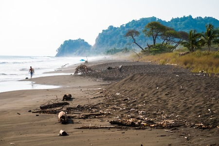 Tropical beach of Playa Hermosa near the town of Jaco, Costa Rica