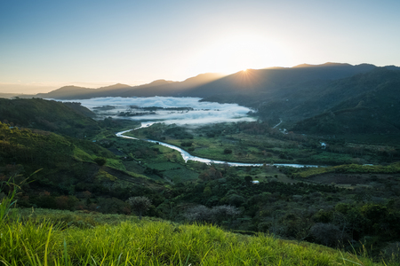 Valley of Orosi at sunrise. Costa Rica