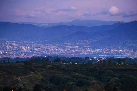City of San Jose at twilight. Costa Rica 版權商用圖片