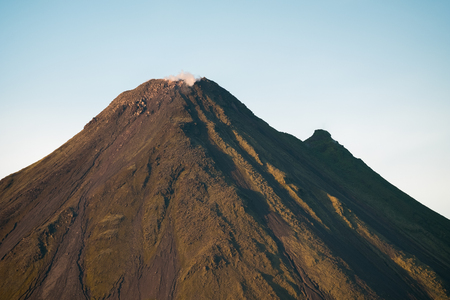 Summit of the active volcano of Arenal, Costa Rica