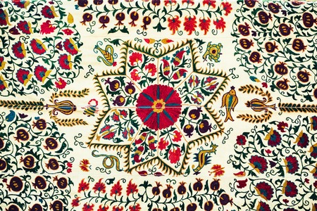 Oosterse ornament mozaïek patroon in Oezbekistan