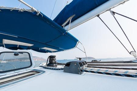 Deck of the saling vessel Reklamní fotografie