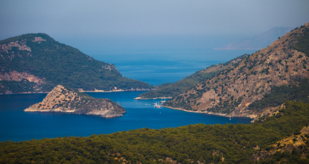 Aegean Sea near the city of Fethiye, Turkey Stock Photo - 83937916