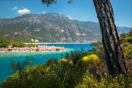Oludeniz beach and the Blue Lagoon, Fethiye, Turkey