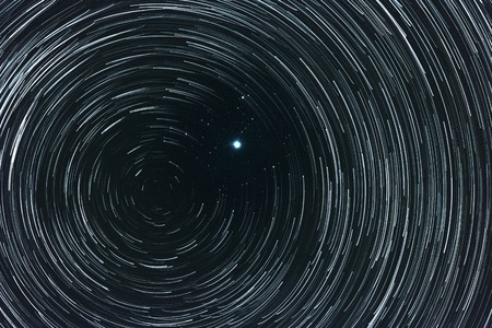 Polar star (Pole star) and north celestial pole