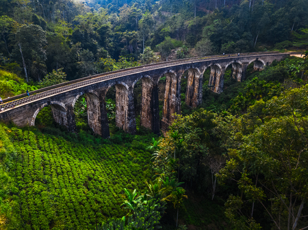 Old bridge named Nine Arches Bridge near the town of Ella, Sri Lanka