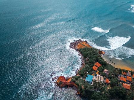 Tropical coast of the island of Sri Lanka