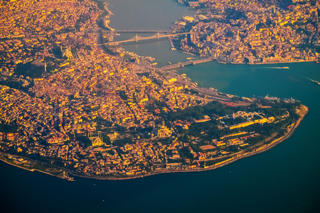 City of Istanbul aerial view. Turkey