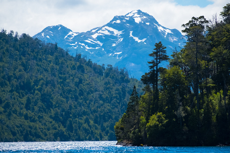 Mountains and forests of the National Park of Nahuel Huapi, town of Bariloche, Argentina